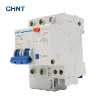 CHINT DZ47LE-32 2P C10 10A DIN Rail Overload Protection Residual Current Circuit Breaker -