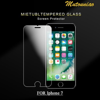 MuTouNiao 3 ADET Accesorios i phone Için iphone 7 Için 9 H Premium Temperli Cam Ekran Koruyucu Anti-scratch Film iphone 7
