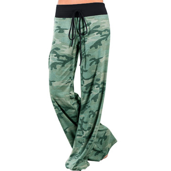 VITIANA Women Long Casual Pants Capris Female Black Flower Printed Pants Autumn Ladies Loose Drawstring Camouflage Trousers